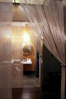Tenda a fili Silvia Interiors Chain per schermare la zona antibagno