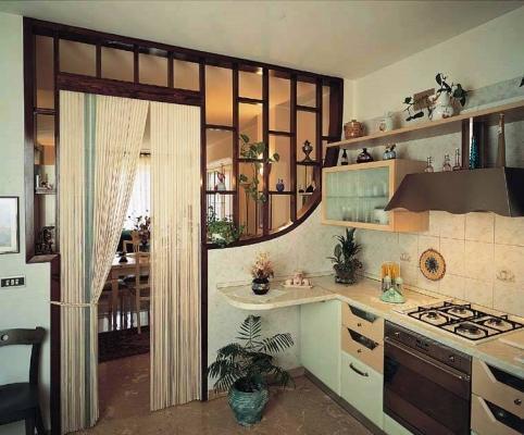 Tenda a fili per dividere gli spazi - Tenda per cucina ...