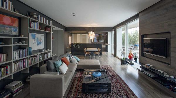 Open space soluzione di mobili Lago