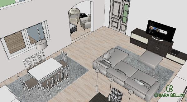 Open space. Aree funzionali scandite da tappeti