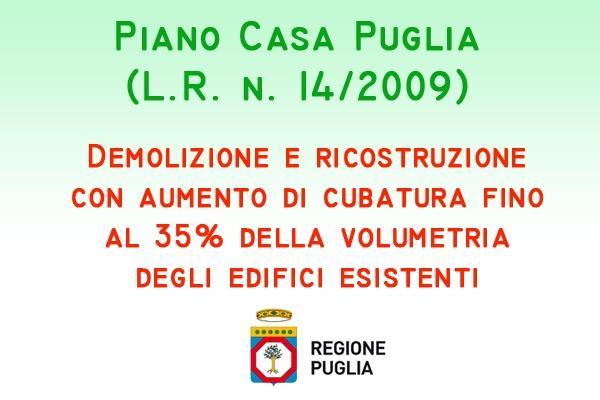 Contenuti Piano Casa, bollettino ufficiale Regione Puglia