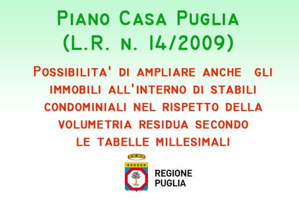 Bollettino ufficiale Regione Puglia, gli interventi del Piano Casa