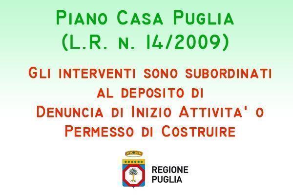 Bollettino ufficiale Regione Puglia: Titoli abilitativi Piano Casa