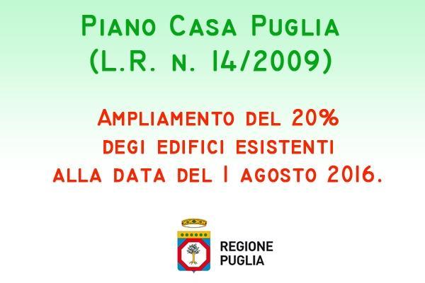 Bollettino ufficiale Regione Puglia: Ampliamento Piano Casa