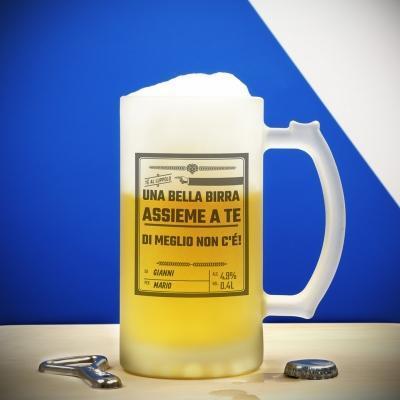 Regali originali San Valentino: Boccale di birra personalizzato di Troppotogo