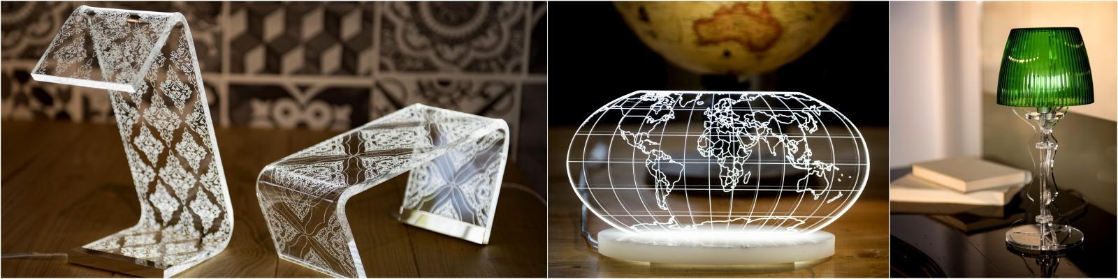 Proposte di arredo in cristallo acrilico di Vesta
