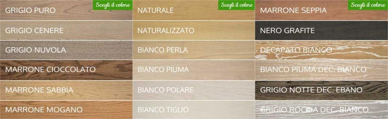 Parquest su pavimento esistente, palette colori by Onlywood.it