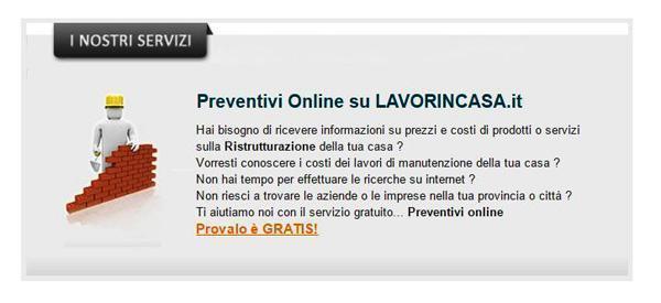 Servizio di Preventivo online by LAVORINCASA.IT