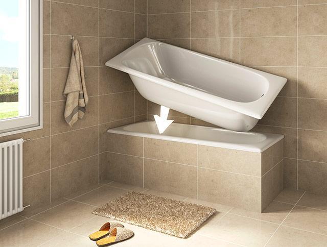 Sovrapposizione vasche da bagno - Da vasca da bagno a doccia ...