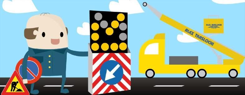 Servizio noleggio cartelli stradali di Alex Traslochi