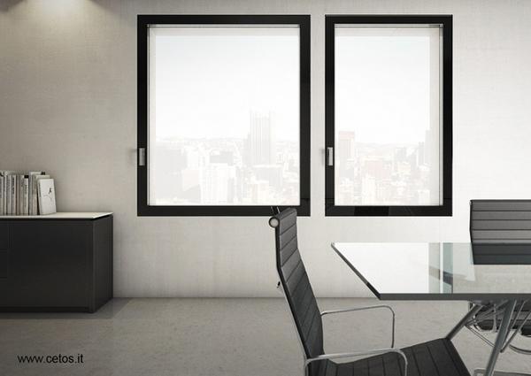 Finestre raso muro - Parete vetrata esterna ...