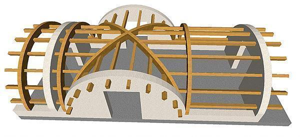 Tetto in legno lamellare con profilo curvo, di Prolegno.