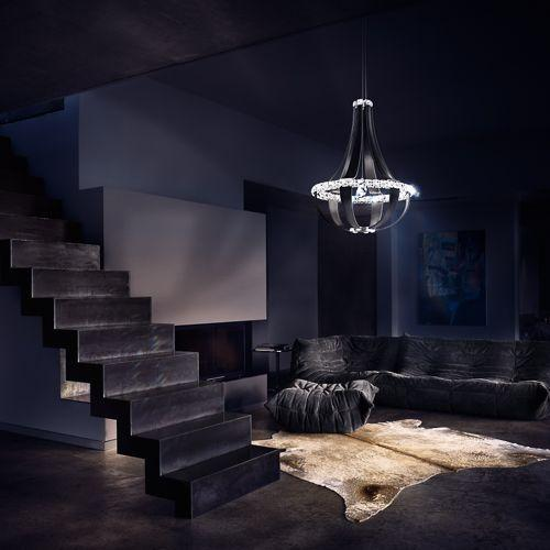 Lampadario a sospensione Crystal Empire di Swarovski Lighting