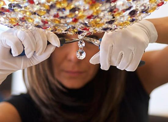 Cristallo per lampadario lavorazione artigianale Manooi