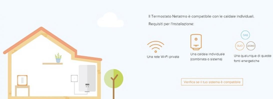 Termostato senza fili Netatmo, compatibilità con le caldaie