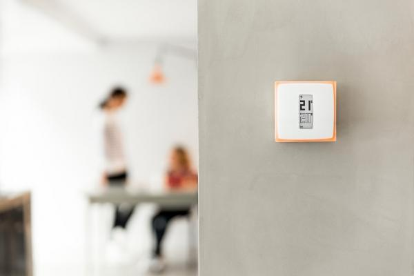 Termostati wifi modello Netatmo, installazione a parete