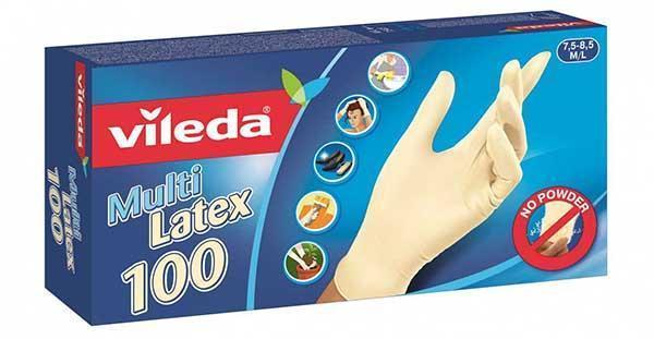 Guanti impermeabili usa e getta Multi Latex di Vileda.