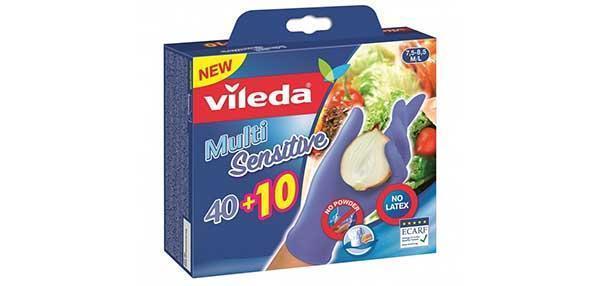 Guanti usa e getta in nitrile Multi Sensitive di Vileda.