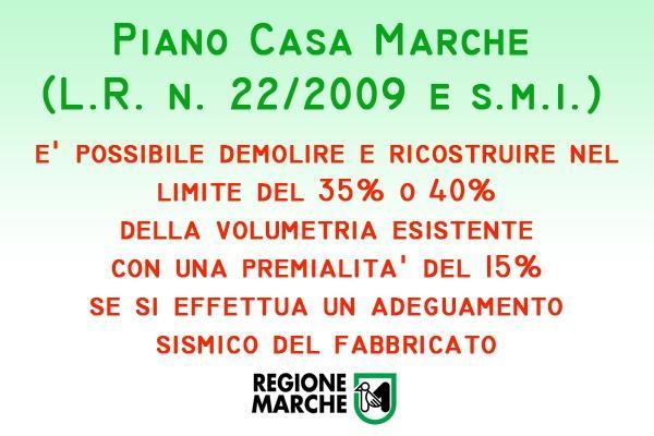 Piano Casa Regione Marche contenuti