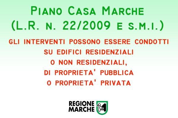 Piano Casa Marche norma