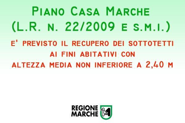 Piano Casa Regione Marche sottotetti