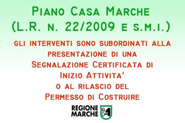 Piano Casa Regione Marche procedure