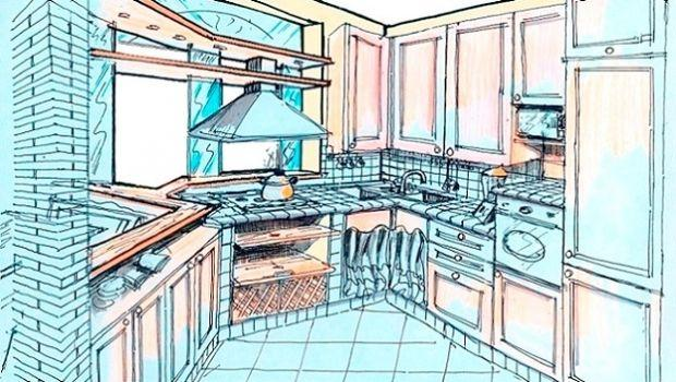 Cucina a doppio angolo: idea di progetto
