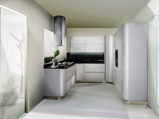 Cucina a doppio angolo: progetto