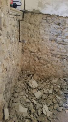 Disintonacatura a vivo muratura di pietrame