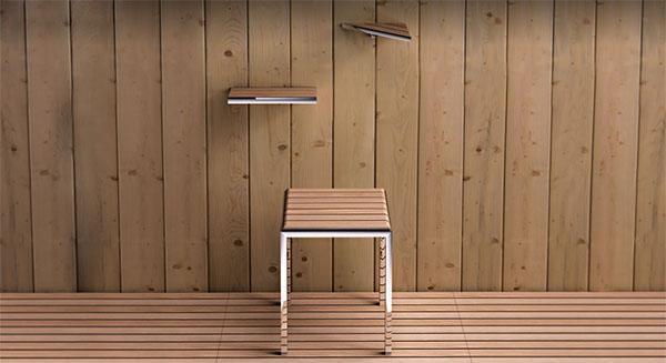 Set accessori bagno contemporanei, collezione Natura di IBB in legno e metallo cromato