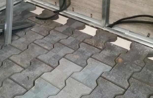 Pavimento flottante gomma riciclata
