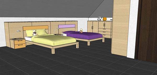 Cameretta per due bambine con mobili Seipersei di Diotti A&F