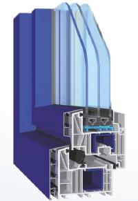 Vetri bassoemissivi: Tonini, sezione con triplo vetro