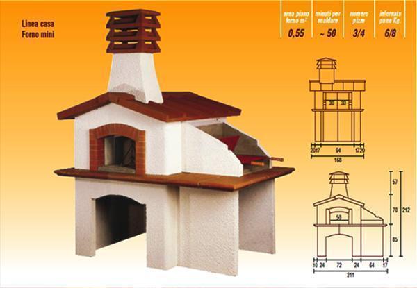 Forno legna , casetta da giardino con funzione di forno a legna, by La Refrattaria s.n.c.
