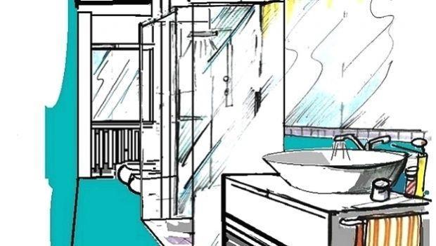 Soluzione progettuale per bagno con box doccia