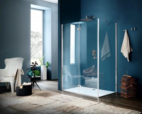 Ambientazione bagno: box doccia con ante a libro Sim, by Inda