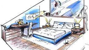 Camera da letto in mansarda: progetto