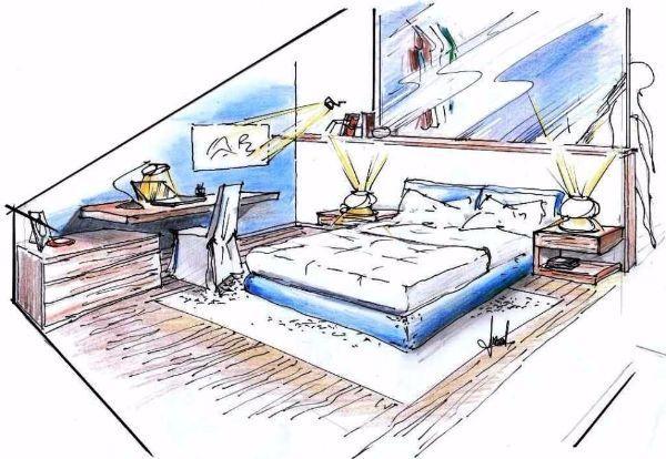 Camera da letto in mansarda progetto - Disegni camera da letto ...