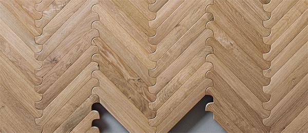 Pavimento ad incastro Biscuit di Listone Giordano, concept di Patricia Urquiola