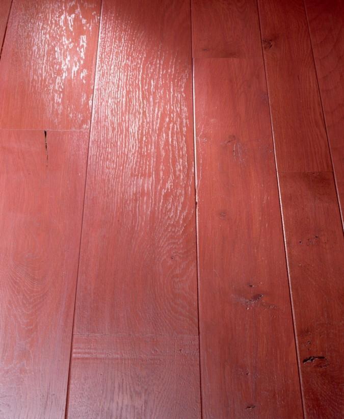 Parquet di Paral verniciato di rosso