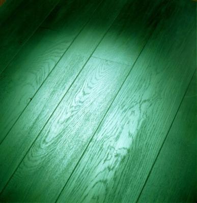 Parquet di Paral verniciato di verde