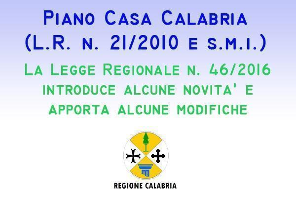 Piano Casa Calabria