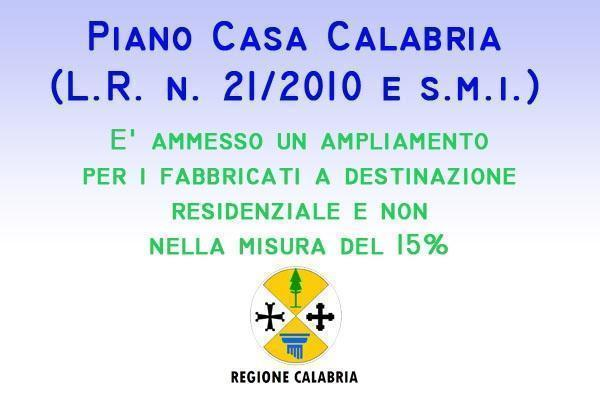 Piano Casa Calabria ampliamento