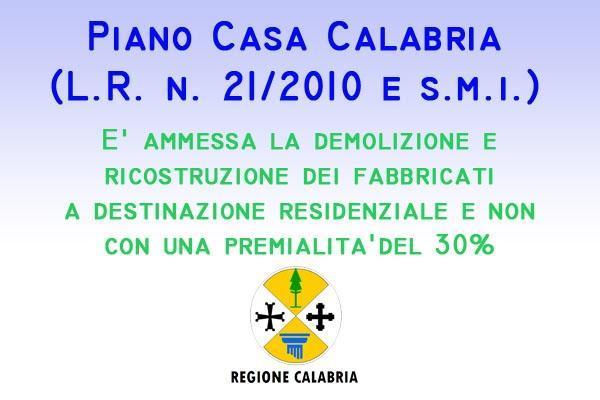 Piano Casa Calabria demolizione