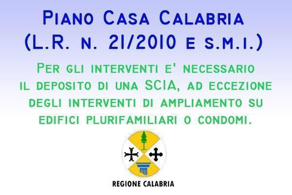 Piano casa Calabria scia