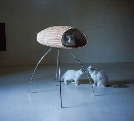 Cuccia per gatti di design modello Baco Chiurlo di Brandodesign.it