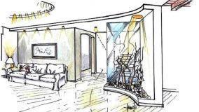Salotto classico contemporaneo: armonie strutturali e d'arredo