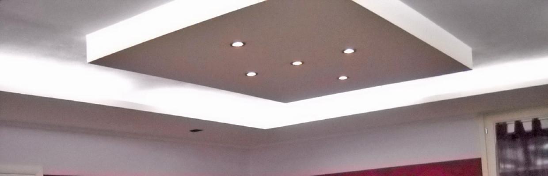 Sistema controsoffitto per salone, realizzato da Edile Cartongesso