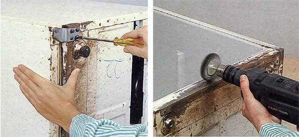 Rriparare il frigorifero asportando la ruggine