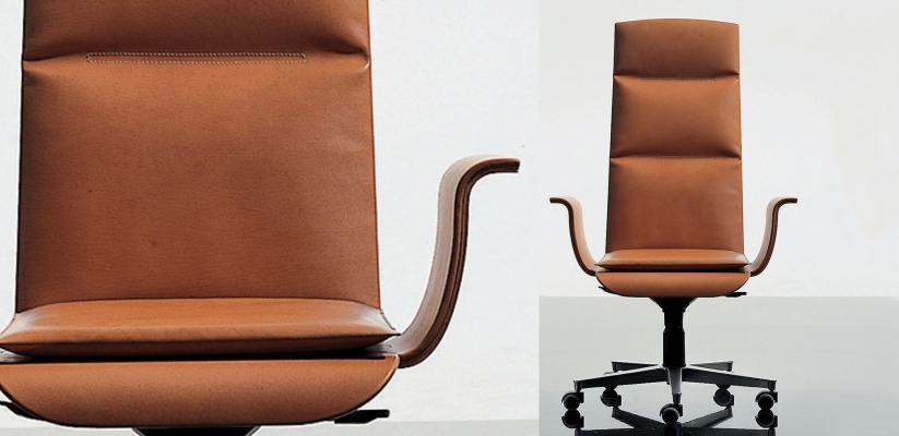 Sedute ufficio ergonomica - Ufficiostile-Linea Win cuoio